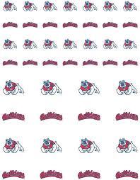 Amazon Com The Fanatic Group Fresno State Bulldogs Small Sticker Sheet 2 Sheets Sports Outdoors