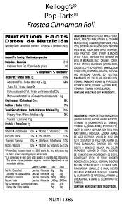 chocolate chip pop tarts nutrition facts