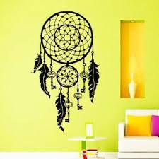 Shop Dream Catcher Keys Lotus Feathers Interior Vinyl Sticker Bedroom Wall Decor Sticker Decal 48 X 65 Black Overstock 15389795