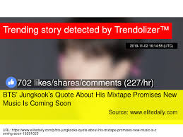 bts jungkook s quote about his mixtape promises new music is