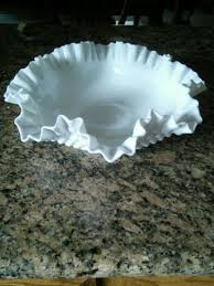 large fenton white milk glass hobnail
