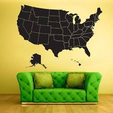 United States Map Wall Decal Usa Map Decal American Map Etsy