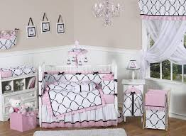 pink black and white princess baby