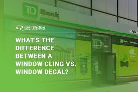What S The Difference Between A Window Cling Vs Window Decal