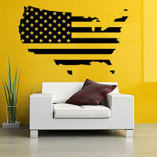 Map Of America Wall Stickers Usa Flag Design Travel Decor Removable Vinyl Wall Art Decal Self Adhesive Murals Living Room F780 Map Design Vinyl Wall Art Decalsvinyl Wall Art Aliexpress