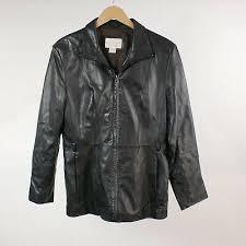 lambskin leather jacket m womens black