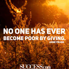 inspiring quotes about giving success