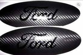 Ford Explorer Oval Emblem Carbon Fiber Overlay Badge Blackout Vinyl Decal Set 2 Ebay