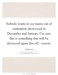 nobody wants to see teams out of contention showcased in