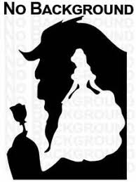 Beauty And The Beast Silhouette Disney Car Wall Window Vinyl Sticker Decal Ebay