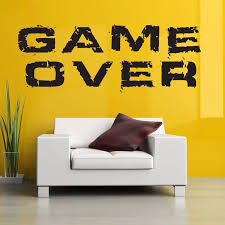 Game Over Handle Wall Sticker Video Play Game Room Decal Gaming Gamer Vinyl Wall Decals Decor Mural Video Game Car Decal Wall Stickers Aliexpress