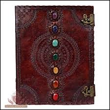 leather journal book seven chakra
