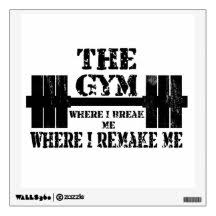 Fitness Wall Decals Stickers Zazzle