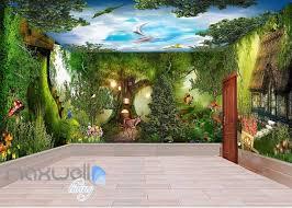 3d Fantacy Wonderland Tree House Wall Murals Wallpaper Decals Art Prin Idecoroom