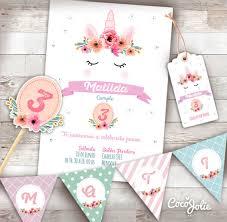Kit Imprimible Unicornio Cocojolie Kits Imprimibles