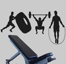 Crossfit Wall Decal Fitness Wall Sticker Workout Decor Etsy