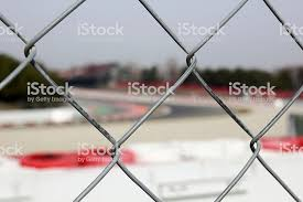 Race Track Behind The Fence Stock Photo Download Image Now Istock