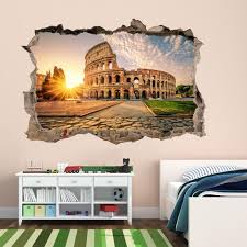 Colosseum Rome Italy Wall Decal Sticker Mural Poster Print Art Etsy