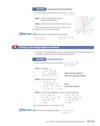 linear quadratic systems of equations