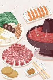 Food Festival Hot Pot Cuisine Background Food Fruit Name Food
