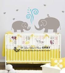 Cute Elephant Wall Sticker Vinyl Decal Kid Nursery Baby Decor Personalised Name Ebay