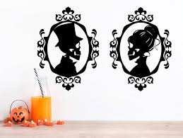Amazon Com Halloween Gothic Victorian Frame Skeleton Wall Decal Set Of 2 Sticker Man Woman Choose Size Color Handmade