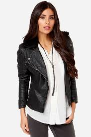 vegan leather jacket moto jacket