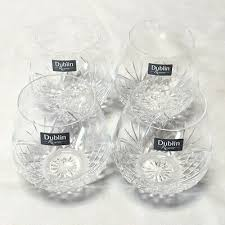 non leaded crystal stemless wine goblet