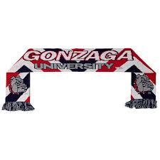 Gonzaga University Zags Bulldogs Jacquard Knit Scarf