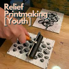 relief printmaking work youth ages