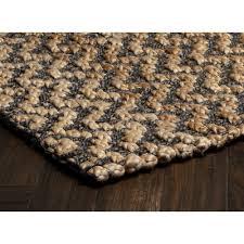 chevron gray hand spun indoor area rug