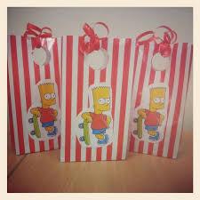 Cool Bart Simpson Party Bags Decoracion Fiesta Cumpleanos