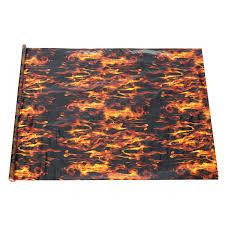 Pva Hydrographic Black Flame Fire Water Transfer Printing Hydro Dip Film Car Decal Sale Banggood Com