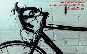 2 Pcs Bike Frame Bicycle Custom Name Set Decals Stickers Road Etsy