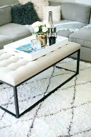 rectangular coffee table decor tray