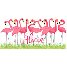 Flock Of Flamingo S Personalized Window Decal Or Bumper Sticker Window Decal Vinyl Car Decal Yeti Tumbler Decal Wall Decal Laptop Decal Peel And Stick Vinyl Decals