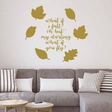 Autumn Leaves Wall Decal Vinyl Decor Wall Decal Customvinyldecor Com