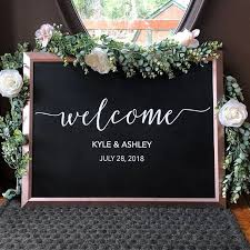 Wedding Welcome Sign Decal Sticker Custom Wedding Decal Etsy Wedding Decal Wedding Welcome Signs Wedding Calligraphy Signs