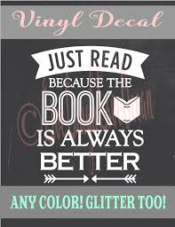 Read Book Lover Decal Librarian Gift Reading Decal Book Etsy