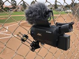 Sony 4k W Rode Directional Mic Fenceclip V6 With A Big Battery This Camera Weighs Over Three Pounds I Like To Use St Gopro Camera Case Big Battery Camera