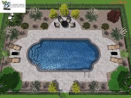 Pool Landscape Ideas Roman Shape Google Search Backyard Pool Landscaping Inground Pool Landscaping Swimming Pool Landscaping
