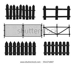 Farm Fence Clipart Black And White Silhouette Farm Fence Clipart