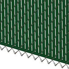Pds Bl Chain Link Fence Slats Bottom Lock 4 Foot Green