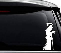 Amazon Com Grim Reaper Angel Of Death Decal Sticker For Use On Laptop Helmet Car Truck Motorcycle Windows Bumper Wall And Decor Size 8 Inch 20 Cm Tall Color Gloss White