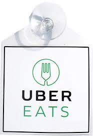 Uber Eats Rideshare Display Decal Placard Emblem With Suction Cup With Images Rideshare Display Cards Uber