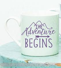 The Adventure Begins Mug Tumbler Decals Vinyl Lettering Rtic Yeti Sticker Art Quote