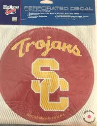 Usc Trojans Perforated Window Decal 8 Round Home Or Auto For Sale Online