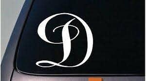 Letter D 6 Monogram Sticker Decal Truck Car Window Teach Craft Initials D775 788679524026 Ebay