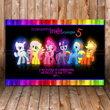 Tarjeta De Invitacion Cumpleanos Imprimible My Little Pony