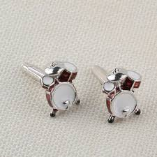 red drum kit cufflinks al drummer